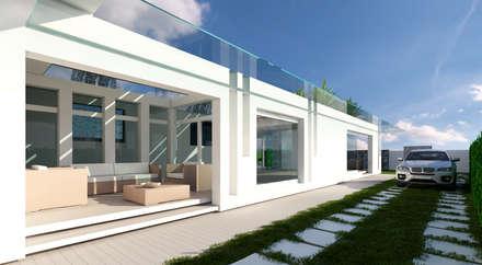 Case moderne idee ispirazioni homify for Portico laterale in stile casa in stile charleston