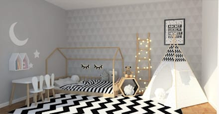 Girls Bedroom by moffitdesign