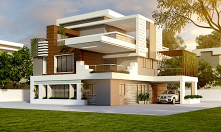Amazing 3D Exterior House Design: Single Family Home By ThePro3DStudio