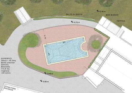 สระว่ายน้ำ by Studio Bennardi - Architettura & Design
