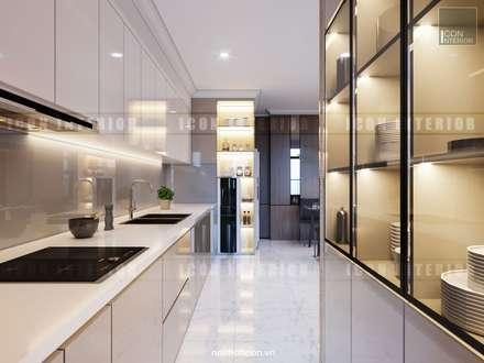 Căn hộ Vinhomes Central Park thiết kế theo phong cách hiện đại dẹp mê mẫn:  Nhà bếp by ICON INTERIOR