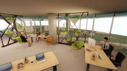 Oficinas de estilo  por Pil Tasarım Mimarlik + Peyzaj Mimarligi + Ic Mimarlik
