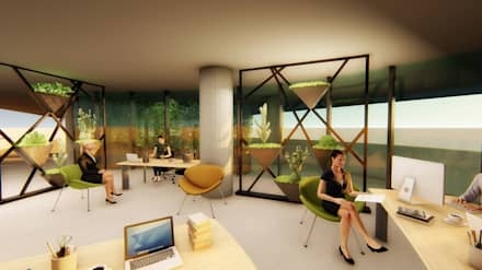 Sala multimediale in stile  di Pil Tasarım Mimarlik + Peyzaj Mimarligi + Ic Mimarlik