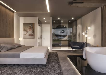 Master Suite: Quartos minimalistas por Tendenza -  Interiors & Architecture Studio