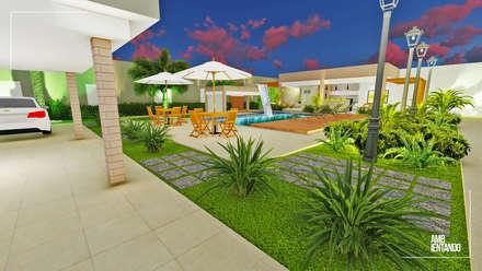 Jardins de pedras  por Ambientando Arquitetura & Interiores