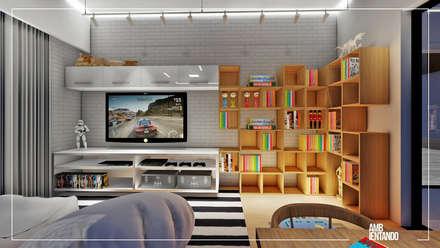 Cuartos para niñas de estilo  por Ambientando Arquitetura & Interiores