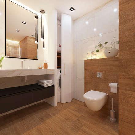 eclectic Bathroom by Студия Дизайна и Архитектуры VECTOR