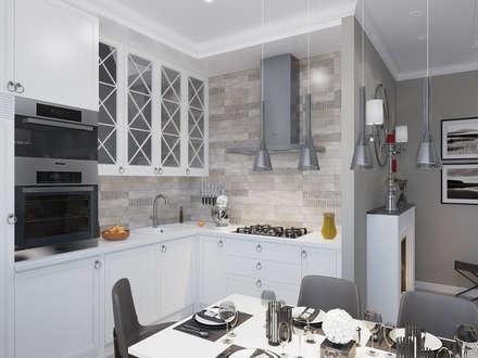 Дизайн-проект квартиры в стиле неоклассика: Кухни в . Автор – design4y