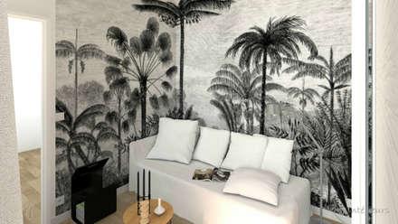 """Panneau """"Aladin"""" (Lé papiers de Ninon): Chambre de style de style Tropical par MJ Intérieurs"""