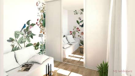 """Panoramique """"Bahamas"""" (Bien Fait): Chambre de style de style Tropical par MJ Intérieurs"""