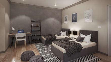 Boys Bedroom: modern Bedroom by Dessiner Interior Architectural