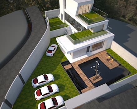 Kolam taman by 勻境設計 Unispace Designs