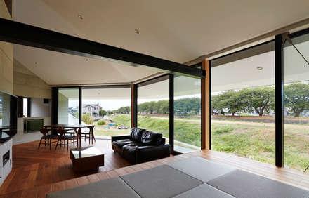新屋敷の家: 小松隼人建築設計事務所が手掛けたリビングです。