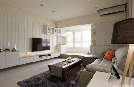 ห้องนั่งเล่น by 北歐制作室內設計