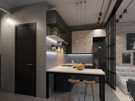 Дизайн-проект стильной квартиры-студии в Москве: Кухни в . Автор – design4y