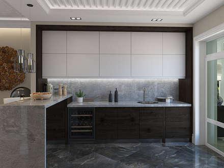 Элегантный частный дом в современном стиле: Кухни в . Автор – design4y
