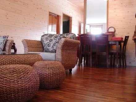 木屋設計建造 :  客廳 by 安居屋有限公司