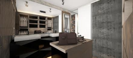 Vestidor+Vanitorios: Walk in closet de estilo  por CB Luxus Inmobilien