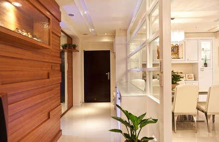 雋:  走廊 & 玄關 by 松泰室內裝修設計工程有限公司