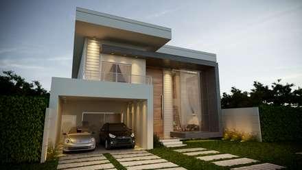 Casa P Lopes: Casas modernas por G Arquitetura