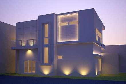 night view-2:  Rumah by Cendana Living