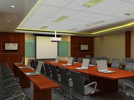 Meeting room 2nd floor view-1:  Gedung perkantoran by Cendana Living