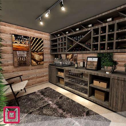 modern Wine cellar by Mariana Oliveira Arquitetura e Interiores
