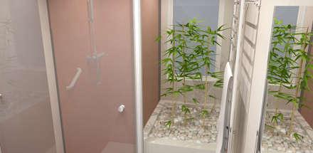 Remodelação de WC: Casas de banho modernas por Paulo Morais - Design, Comunicação e Marketing