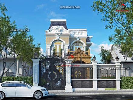 mot so mau thiet ke biet thu dep nhat viet nam: Villas de estilo  de Cong ty thiet ke nha biet thu dep Kien An Vinh