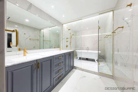 경기도 성남시 분당 까치마을 중앙하이츠 아파트인테리어: 디자인스퀘어의  화장실