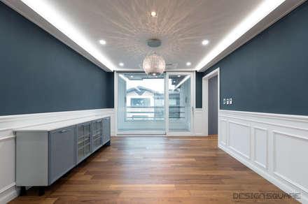 경기도 성남시 분당 까치마을 중앙하이츠 아파트인테리어: 디자인스퀘어의  다이닝 룸