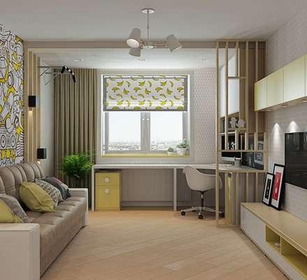 3к.кв. в ЖК Новокосино (Москва) (95 кв.м): Детские комнаты в . Автор – ДизайнМастер
