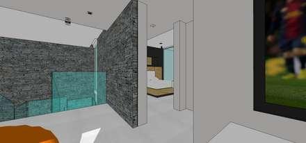 Casa en Barinas: Cuartos de estilo minimalista por MARATEA Estudio