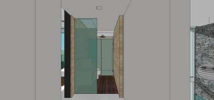 Casa en Barinas: Baños de estilo minimalista por MARATEA Estudio