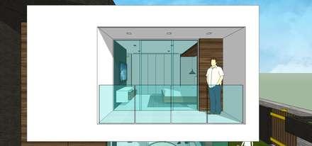 Casa en Barinas: Terrazas de estilo  por MARATEA Estudio