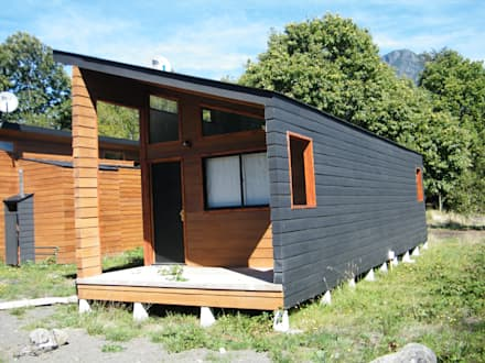 Refugio M-1, Pucón : Casas prefabricadas de estilo  por Casabella