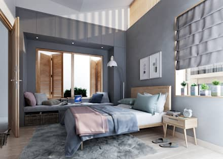 House 516: scandinavian Bedroom by Studio Gritt