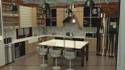 Cocina Industrial: Cocinas de estilo industrial por Scale Interior Design