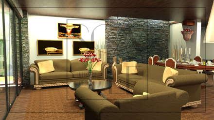Sala y Comedor: Salas / recibidores de estilo clásico por Scale Interior Design