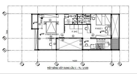 Bản vẽ thiết kế:  Nhà gia đình by Công ty TNHH Thiết Kế Xây Dựng Song Phát
