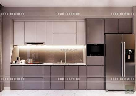 THIẾT KẾ NỘI THẤT HIỆN ĐẠI: VẺ ĐẸP CỦA NỘI THẤT ÁNH KIM:  Nhà bếp by ICON INTERIOR