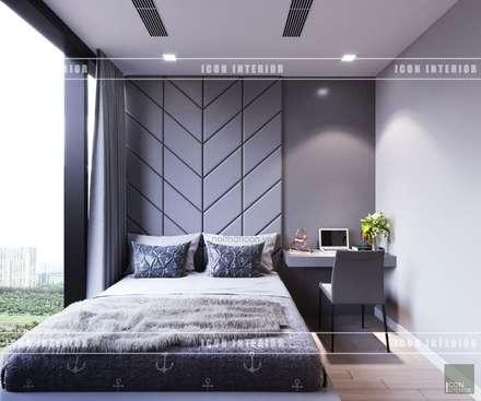 THIẾT KẾ NỘI THẤT HIỆN ĐẠI: VẺ ĐẸP CỦA NỘI THẤT ÁNH KIM:  Phòng ngủ by ICON INTERIOR