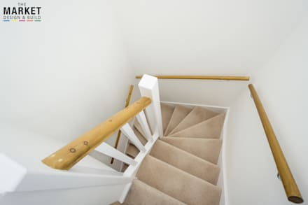 LOFT CONVERSIONS AND HOUSE EXTENSIONS IN CHISWICK:  Stairs by The Market Design & Build