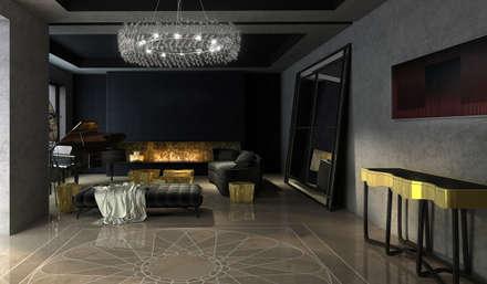 Hall de recepción: Paredes de estilo  por MADBA design & architecture