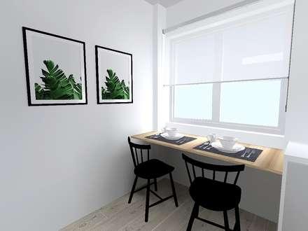 Apartamento Luz: Armários de cozinha  por Criadesign Studio