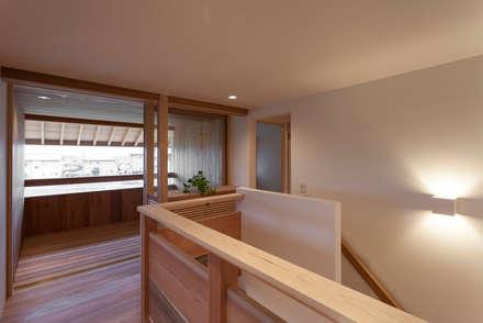 Ventanas de madera de estilo  por 中山建築設計事務所