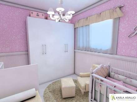 Cuarto del bebé de estilo  por Karla Araujo | Arquitetura + Interiores