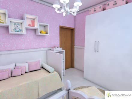 غرف الرضع تنفيذ Karla Araujo | Arquitetura + Interiores