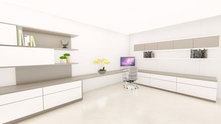 casa la riverita : Estudios y despachos de estilo moderno por astratto