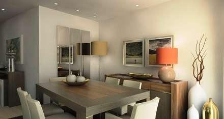 Sala de Jantar: Salas de jantar modernas por PROJETARQ